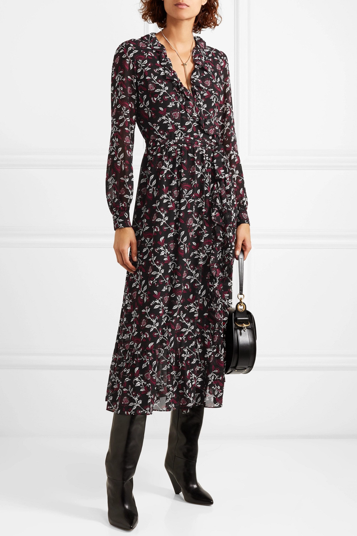 MICHAEL Michael Kors Ruffled floral-print chiffon wrap dress