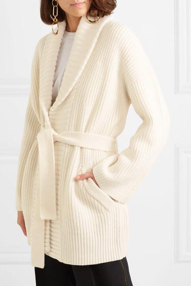 MICHAEL Michael Kors. Belted wool and alpaca-blend cardigan 02df362fb