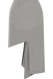 Maison Margiela Cutout houndstooth cotton midi skirt