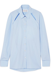 Maison Margiela Cutout cotton-poplin shirt