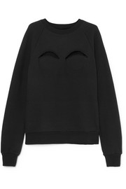 Maison Margiela Cutout cotton-blend jersey sweatshirt