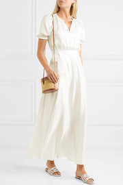 Brooke washed-silk maxi dress
