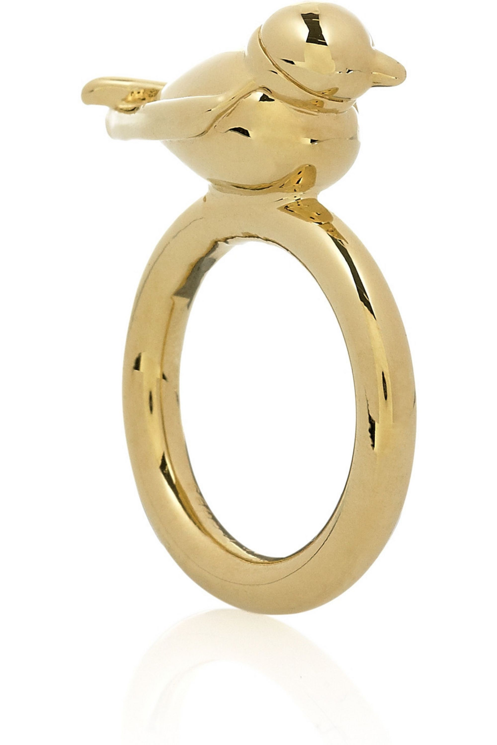 Marc by Marc Jacobs Set of two gold-tone bird rings