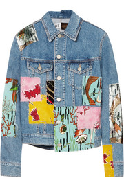 Loewe + Paula's Ibiza sequined patchwork denim jacket