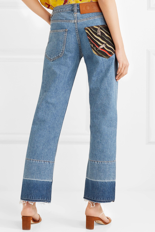 Loewe + Paula's Ibiza twill-paneled mid-rise straight-leg jeans