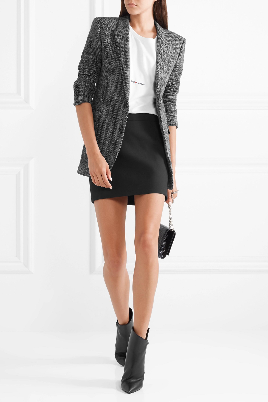 SAINT LAURENT Herringbone wool blazer