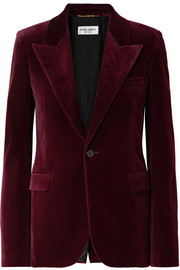 Cotton-velvet blazer