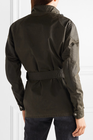 Saint Laurent Jackets Belted waxed cotton-canvas jacket