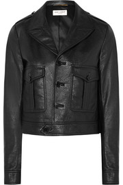 Saint Laurent Cropped leather jacket