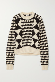Saint Laurent Cable-knit wool-blend sweater