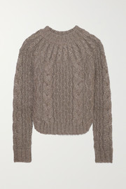 Saint Laurent Metallic cable-knit sweater
