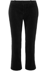 Saint Laurent Cropped cotton-corduroy flared pants