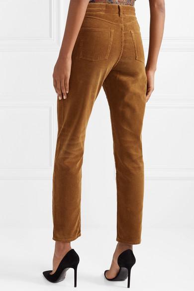 Saint Laurent Pants Cotton-corduroy straight-leg pants