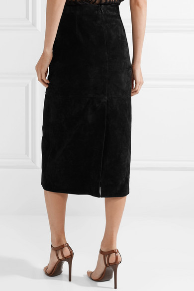 eed5a98003 SAINT LAURENT. Suede midi skirt. $3,190 $1,91440% OFF. Reduced further.  Zoom In