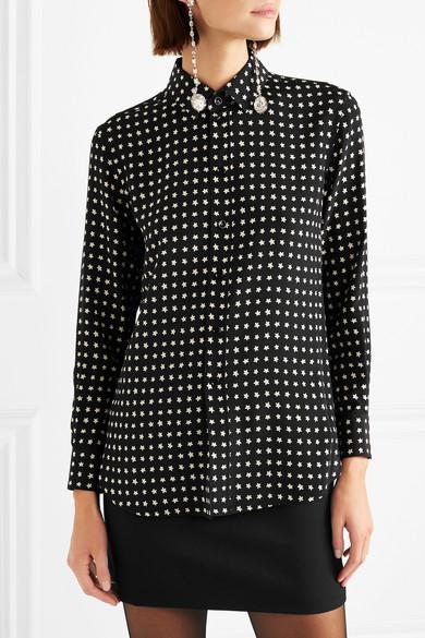 Saint Laurent Shirts Printed silk crepe de chine shirt