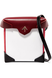 Pristine mini color-block leather and suede shoulder bag