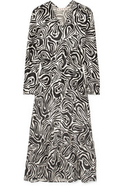 Marni Printed poplin midi dress