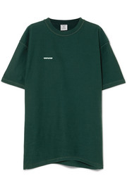 Vetements Oversized embroidered cotton-jersey T-shirt