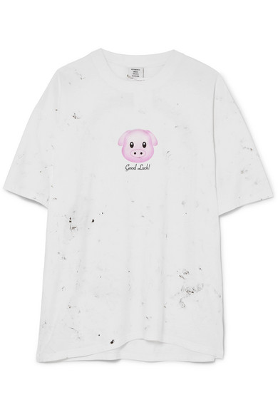 f417fa2b Vetements | Printed cotton-jersey T-shirt | NET-A-PORTER.COM