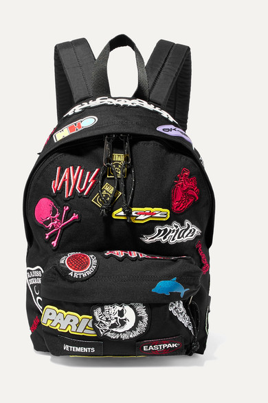 + Eastpak Appliquéd Canvas Backpack by Vetements
