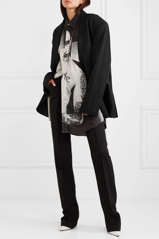 Vetements 大廓形贴花斜纹布西装式外套