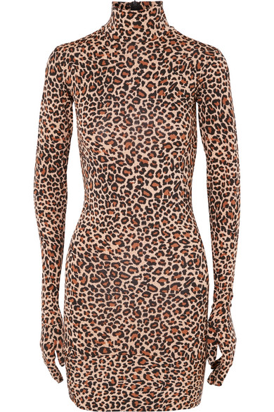 Vetements - Leopard-print Jersey Mini Dress - Leopard print