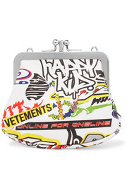 Vetements Printed leather pouch
