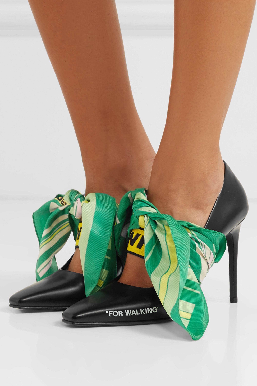Black For Walking embellished printed