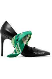 Off-White For Walking embellished printed leather pumps