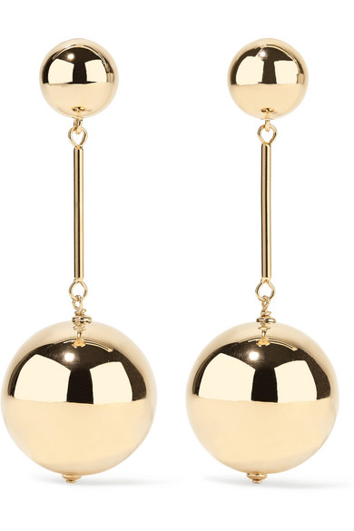 GOLD-PLATED EARRINGS from NET-A-PORTER