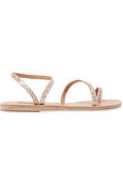 Eleftheria sequined leather sandals