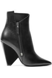 Saint Laurent Niki leather ankle boots