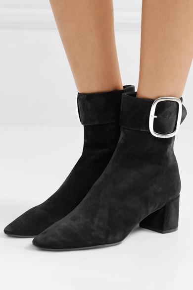 710820ce688 SAINT LAURENT | Joplin suede ankle boots | NET-A-PORTER.COM