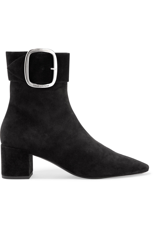 SAINT LAURENT Joplin suede ankle boots
