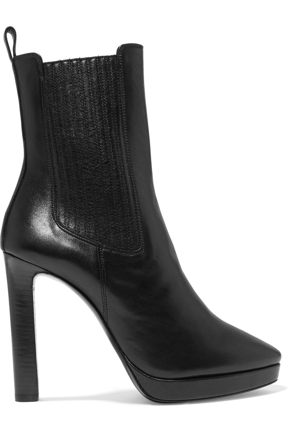 Hall leather platform ankle boots