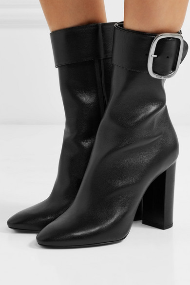 b8feea86ae817 Saint Laurent. Joplin leather ankle boots
