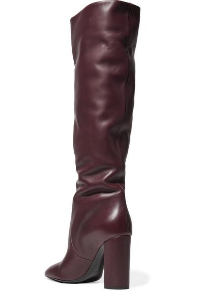 Saint Laurent | Stiefel Lou kniehohe Stiefel | aus Leder 8edacf