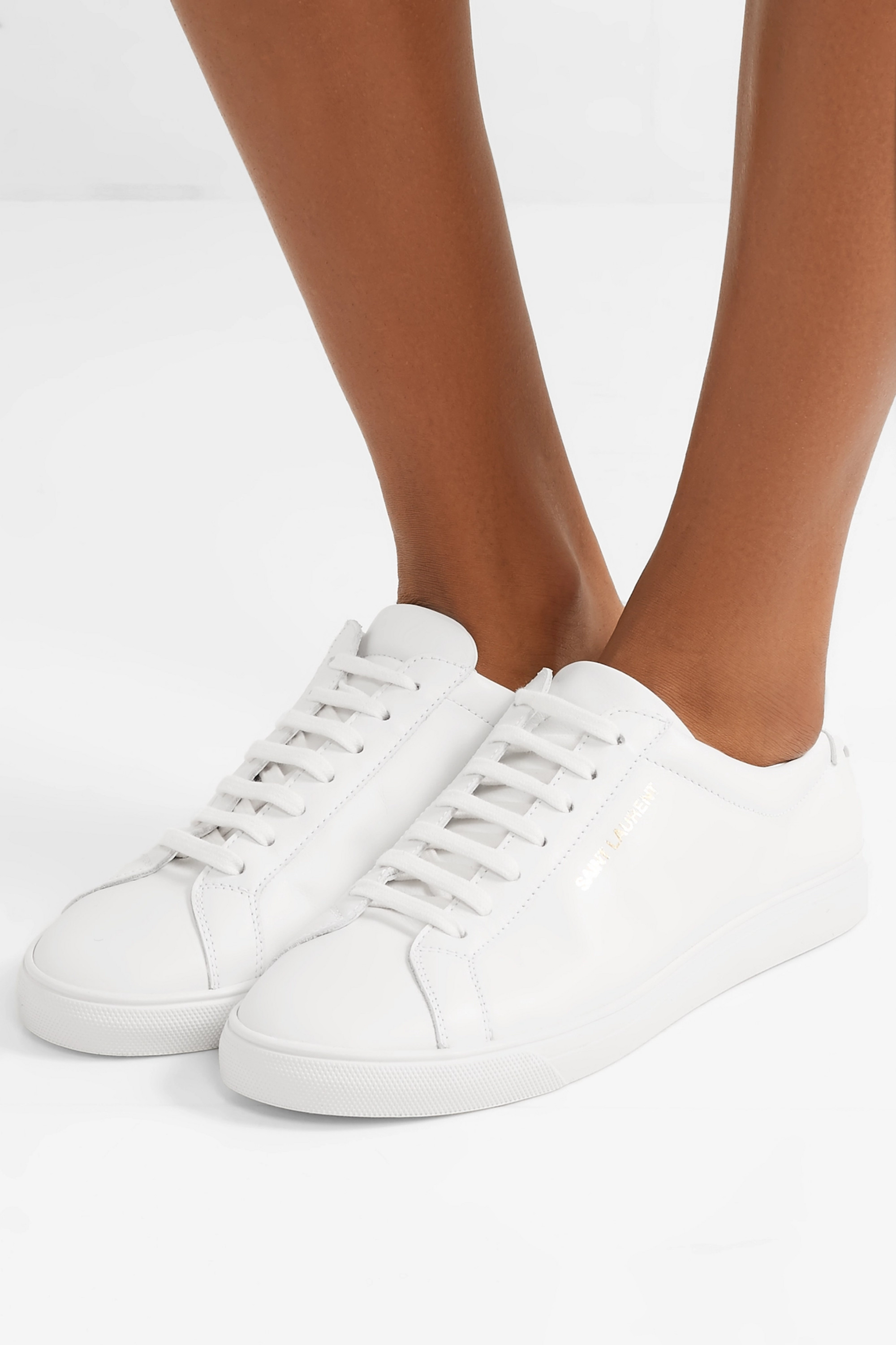White Andy leather sneakers | SAINT
