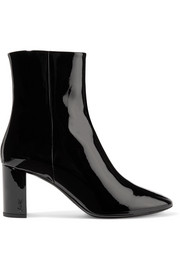 Saint Laurent Lou patent-leather ankle boots