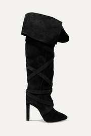 Saint Laurent Meurice suede knee boots