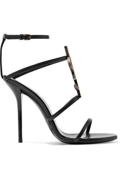 49ef3051b877 Saint Laurent. Cassandra logo-embellished leather sandals