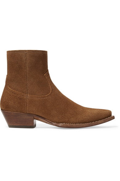 Lukas Suede Ankle Boots - Beige, Tan Size 11