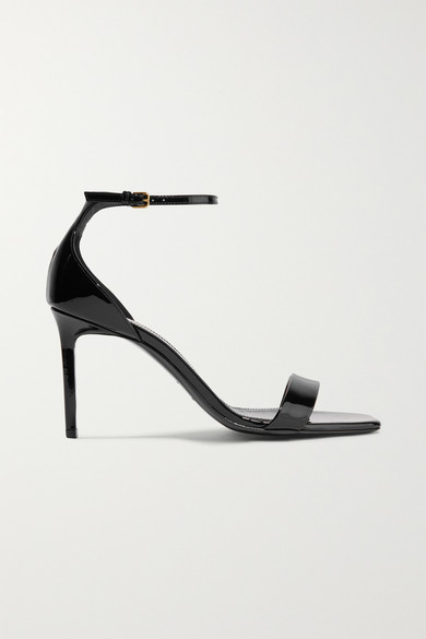 Amber 85 Patent Leather Sandals in Black