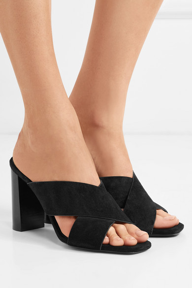 Saint Laurent Veloursleder | Loulou Mules aus Veloursleder Laurent df5044