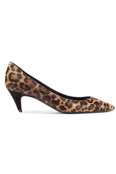 Saint Laurent - Charlotte Leopard-print Calf Hair Pumps - Leopard print