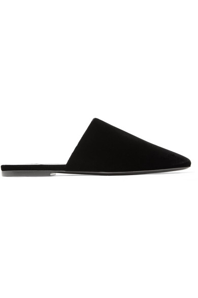 Bliss Velvet Slippers by Saint Laurent