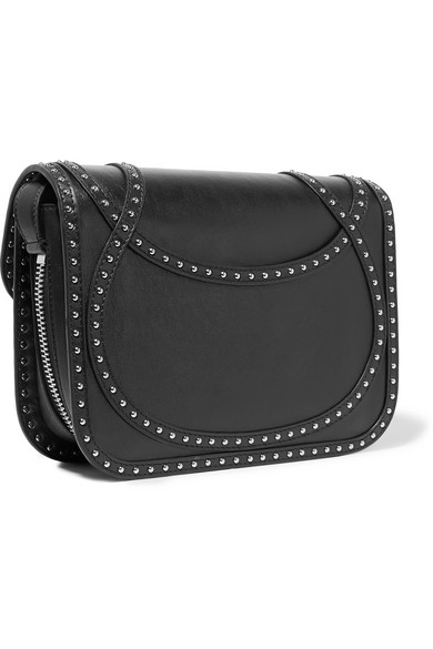Alexander McQueen. Wicca studded textured-leather shoulder bag 75aad1d79dd8e