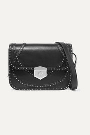 Wicca studded textured-leather shoulder bag
