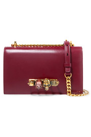 Jewelled Satchel embellished leather shoulder bag