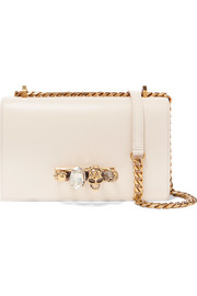 Jewelled Satchel crystal-embellished leather shoulder bag